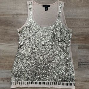 WHITE HOUSE BLACK MARKET sequined tank top